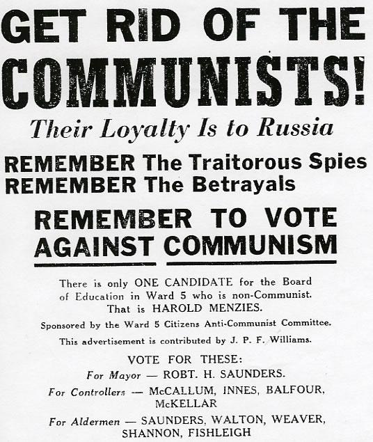 Anti-communist election advertisement