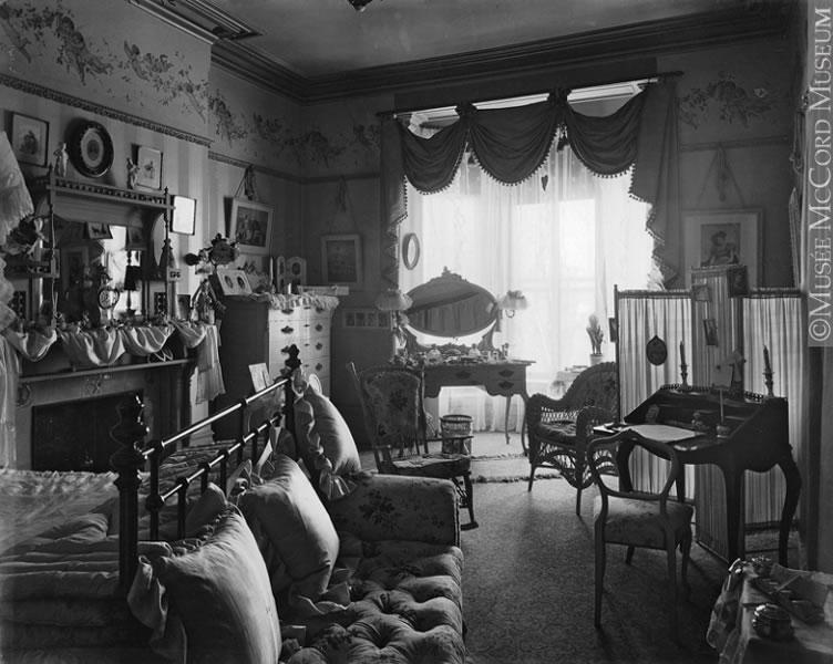 La Chambre Coucher De Mme David Morrice Montr Al Qc 1899