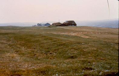 Hófstaðir, restes de la halle d'un chef, nord de l'Islande