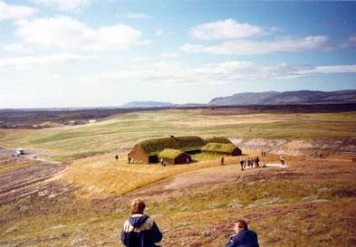 Reconstitution de la halle de Stöng, vallée de Thjorsardalur